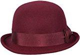 loevenich Donna Bowler Melone feltro cappello con nastro decorativo e fiocco–(Nero/Grigio/Navy/Rosso) alla moda