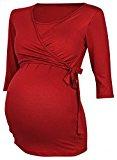 Happy Mama Donna T-shirt bolero prémaman per l'allattamento Camicia Maglia. 458p