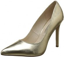 Buffalo London 15P53-5 Mercure Leather, Scarpe con Tacco Donna, Oro (Gold 24), 38 EU