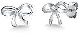 Rafaela Donata - Orecchini a perno a forma di fiocco - Argento Sterling 925 con diamante, Orecchini con diamante, Orecchini, Orecchini in Argento Sterling, Gioielli d'argento - 60915008