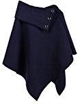 jowiha®–Poncho da donna con collo e bottoni, taglia unica