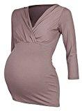 Happy Mama Donna T-shirt prémaman per l'allattamento Camicia Maglia. 618p