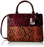 Guess Cate Satchel Plus Borsa a Mano, Donna, Rosso (Lava)