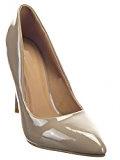 Sopily - Scarpe da Moda scarpe decollete Decollete Stiletto alla caviglia donna lucide 10.5 CM - Khaki
