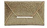 URAQT-Vestito da sera glitterato borsetta Clutch-Borsa da donna