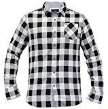 Brave Soul da uomo jackd Chambray Dettaglio Camicia a quadretti Design Cotone Top