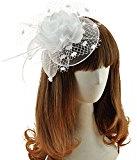 Kapmore Clip del cappello piuma netto Fascinator sposa il giorno delle donne corsa Royal Ascot