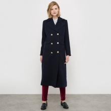 Cappotto stile militare in panno di lana