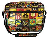 DC Comics - Borsa a tracolla con immagini vintage di Batman/Superman/The Flash
