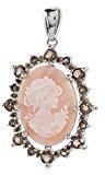 La luna–ciondolo da donna in argento 925/1000rodiato madreperla