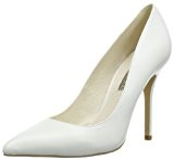 Buffalo London 112-1211 SILK LEATHER, Scarpe chiuse donna, Bianco (Weiß (WHITE)), 36