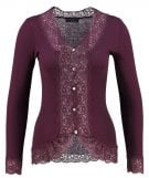 Cardigan - mulberry