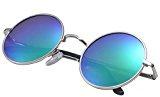 NOVAWO Nuovo Steampunk Vintage Hippie occhiali da sole rotondi classici per Uomo Donna