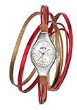 Opex X2341LE5 - Orologio da polso donna, pelle, colore: rosso