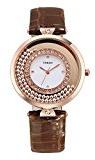 Time100 orologio donna pelle estivo cassa in acciaio INOX colore marrone#W50446L.05A