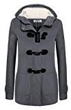 Angvns Donna casual inverno manica lunga solido lana cappotto con cappuccio tiepido giacca