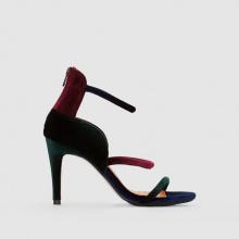 Sandali velluto tacco alto