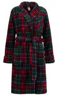Accappatoio - plaid red/green