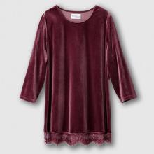 T-shirt maglia in velluto rasato