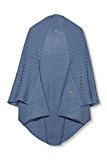 edc by ESPRIT 096CA1Q015, Poncho Donna, Blu (BLUE), Small