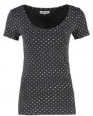T-shirt con stampa - dark grey/white