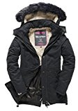 Superdry Microfibre Tall Parka, Giacca Donna