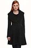 Angvns Inverno moda elegante cardigan lungo cappotto del vento di donna