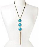 Lux accessori turchese Tiered nappe collana
