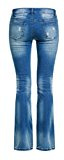 Dressation Donna a vita bassa Distressed Bootcut Denim Jeans