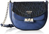 Guess Kingsley Petite Crossbody Flap Borsa a Tracolla, Donna, Blu (Sapphire)