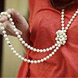 Merida Donne Collana a Catena White Lady Perle Artificiali Maglione Lungo Elegante