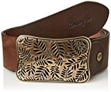 Wrangler - CTF Flowers Buckle B, Cintura Donna, marrone (Brown), 75 cm (75)