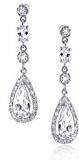 Bling Jewelry Lacrima nuziale CZ lampadario Orecchini Argento 925