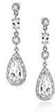 Bling Jewelry Teardrop nuziale Legacy Bequest Classic CZ orecchini Chandelier