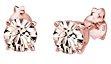 Orecchini per Donna oro rosa con Swarovski argento 925 cristallo rosa brillante - 0310890215