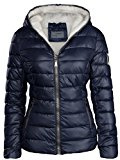 Giacca invernale da donna foderata e trapuntata, effetto piumino, con cappuccio, giacca da sci, calda
