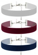 Topshop 3 PACK Collana burgundy