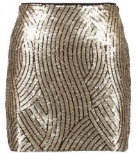 PSYCH - Minigonna - gold