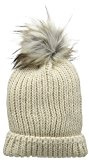 New Look Faux Fur Pom Bobble, Cuffia Donna