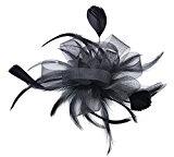 Kapmore Clip di capelli Fascinator di matrimonio con donne piuma