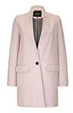 Anastasia Donna singolo pulsante cappotto, rosa, Taglia 42