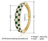 City Ouna® Elementi di Swarovski qualità in lega placcato 18k braccialetto etnico turchese Bracciale Bangle ampia per donne gioielli regalo con zirconi viola cristallo