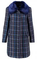 CARUSO - Cappotto corto - blue check