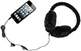 Kitsound audio on-ear cuffie paraorecchie con 3,5 mm jack e guanti touchscreen compatibili con gli smartphone, i tablet, MP3 dispositivi, e computer portatili - Nero