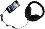 Kitsound audio on-ear cuffie paraorecchie con 3,5 mm jack e guanti touchscreen compatibili con gli smartphone, i tablet, MP3 dispositivi, e computer portatili - Nero