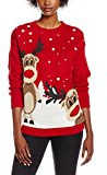 Mela Christmas Reigndeers Jumper Red, Felpa Donna