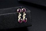 GoSparking cristallo viola oro rosa 18 carati placcato orecchini della lega Anelli con cristallo austriaco per le donne