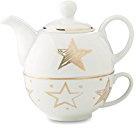 Natalizia teiera con tazza e nel dorato stella decorazione di noTrash2003
