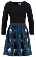 Vestito di maglina - black/moroccan blue