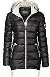 Caldo invernale trapuntato Donna Giubbotto Trapuntato giacca lunga Parka Cappuccio Zipper
